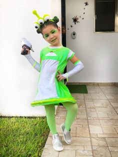 05c94d4c129 Halloween kids baby girl alien costume Allien Costume