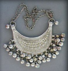 Indian Antique Pendant Neckline with pretty bells
