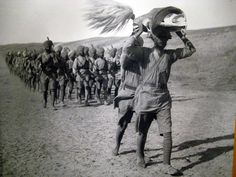 Waheguru Ji Ka Khalsa Waheguru Ji Ki Fateh!  The Sikh Regiment Of The British India Army being led in a procession by their Holy Scripture the Sri Guru Granth Sahib, in Mesopotamia during World War I  Waheguru Waheguru Waheguru