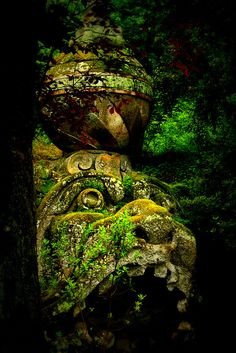 Bomarzo Italy one of my favorite magical places in the world. The Places Youll Go, Places To See, Enchanted, Statues, Italian Garden, My Secret Garden, Sculpture, Abandoned Places, Garden Art