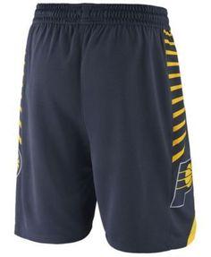 Nike Men's Indiana Pacers Icon Swingman Shorts - Navy/Yellow XXL