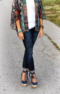 42 Sweet Kimono Chic Outfit Ideas