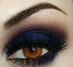 Blue and black, copper highlight