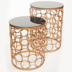 Gold Infinity Nesting Side Tables