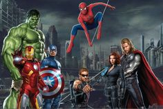 Avengers Backdrop Avengers Birthday Party by paperstudioeu