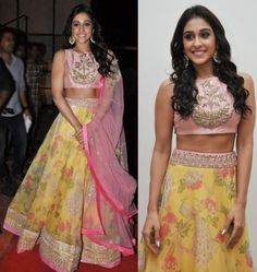 Regina Cassandra was spotted in a yellow Anushree Reddy Lehenga