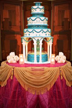 indian wedding cakes | indian wedding cakes blue white reception cake 25 of 98