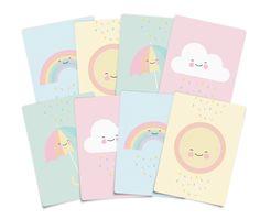 cartes postales eef lillemor pour decoration chambre bébé- pastels postcards baby bedroom