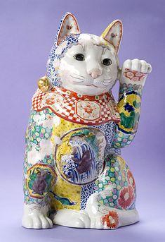 九谷ヌーボー招き猫 東早苗作品