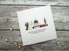 I Love London themed wedding/evening invitations - personalised
