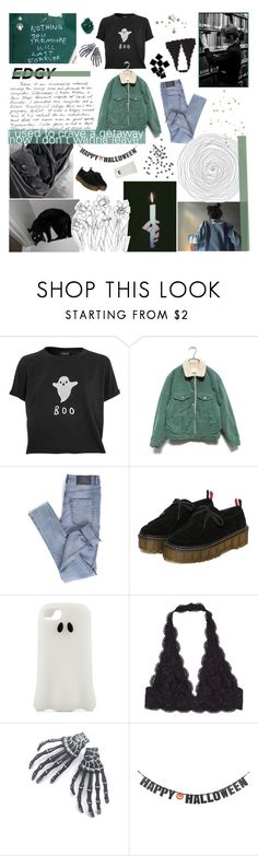 """""""♡ I NEVER WANTED TO BE THINKING THIS LOUD"""" by thundxrstorms ❤ liked on Polyvore featuring Topshop, Cheap Monday, Blabla, STELLA McCARTNEY and Crate and Barrel"""
