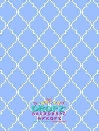 Cornflour Blue Quarterfoil lattice #DropzBackdropsAustralia #backdrops #vinylbackdrop #scenicbackdrop #backdropsaustralia #cakedrop #cakedrops #photographybackdrop #studiobackdrop #scenicbackground #photobackdrop #photobackground