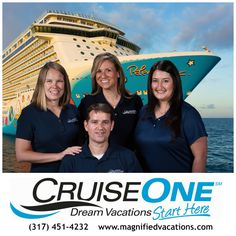We love cruises and would love to help you on your next Dream Cruise Vacation. The team at Magnified Vacations CruiseOne is here to help you