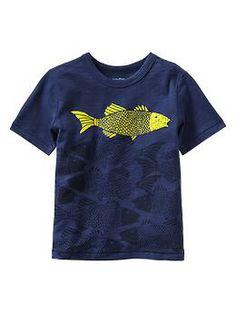 Graphic T Fish Blue & Yellow