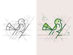 Bird Logo and Golden Ratio Grids designed by DAINOGO. Connect with them on Dribbble; Shirt Logo Design, Graphic Design Print, Graphic Design Illustration, Golden Ratio In Design, Logo Golden Ratio, Golden Logo, Logo Design Inspiration, Icon Design, Type Logo