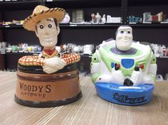 Woody box and Buzz Lightyear bank