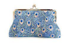 Sac à main Peacock embrayage sac bleu par AtelierEdytaLoukia