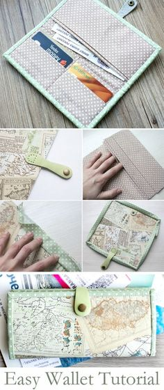 Easy Wallet Holder Sewing Pattern. DIY Tutorial http://www.handmadiya.com/2015/10/easy-wallet-tutorial.html
