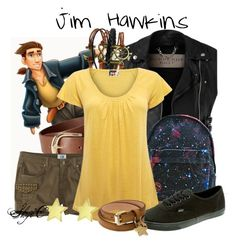 """Jim Hawkins - Summer - Disney's Treasure Planet"" by rubytyra ❤ liked on Polyvore featuring Burberry, Disney, H&M, Cannery Row Vintage, Mi-Pac, EAST, Vans, Mulberry, Jennifer Meyer Jewelry and women's clothing"