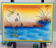 "Created using The Master Michelle Zindorf's ""A Day at the Pond"" tutorial # 334/TMH circa 2010"