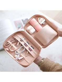 Buy Blush Pink Stackers Cable Tidy Travel Bag from our Travel & Luggage Accessories range at John Lewis & Partners. Travel Bag Essentials, Packing Tips For Travel, Travel Ideas, Best Travel Bags, Packing Lists, Travel Guide, Travel Inspiration, Luggage Accessories, Iphone Accessories