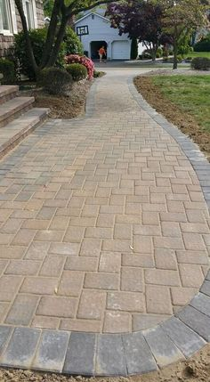 Update your steps and walkway this year! NJ Pavers updated this walkway and steps with beautiful Cambridge Pavingstones with ArmorTec.