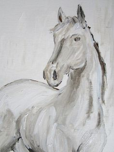 This is an original acrylic painting on Linen Canvas Paper called Young Thoroughbred. The image size is 8 x 10 and comes in an 11 x 14 mat wrapped in