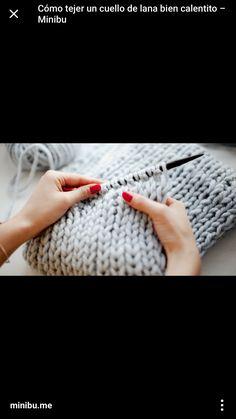 DIY Cómo hacer un cuello de lana o bufanda cerrada a punto bobo  6faf38c52a01
