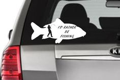 Hey, I found this really awesome Etsy listing at https://www.etsy.com/listing/247860930/rather-be-fishing-fishing-decal-fishing