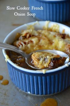 Slow Cooker French Onion Soup, www.mountainmamacooks.com