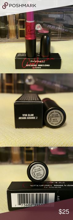 Mac Viva Glam Ariana Grande 2 Viva Glam Ariana Grande 2 is a matte lipstick. Gorgeous fushia color, perfect for the summer. Looks beautiful on many different complexions. Limited Edition. 100%Authentic and Brand New!! MAC Cosmetics Makeup Lipstick