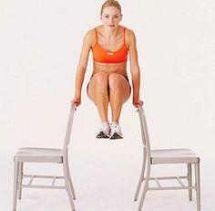 exercício com cadeiras para definir o abdômen