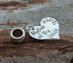 Personalized Mother of the Bride Gift with Date Charm Bead - Pandora Compatible