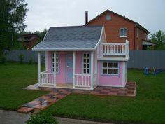 Двухэтажный детский домик.  children's playhouse