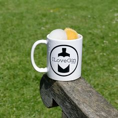 Bottoms up! ILOVEGIN mug for when coffee just isn't cutting it .