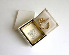 Vintage Ring Box Book Antique Jewelry Presentation by veraviola