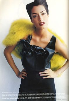 Yasmeen Ghauri | Photography by Mario Testino | For Vogue Magazine France | February 1994