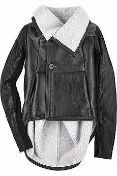 Rick Owens Shearling lined leather jacket - i like ALOT!