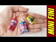 How to Make Fini Candy for Barbie Barbie Dream, Barbie House, Fini Candy, Diy Dollhouse, Dollhouse Miniatures, How To Make Toothpaste, Miniature Youtube, Barbie Dolls Diy, Barbie Doll Accessories