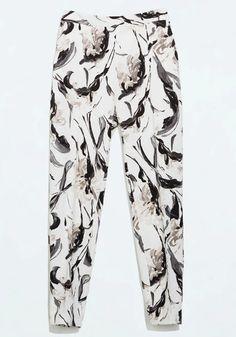 Brushstroke Floral Pants