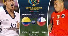 Ver Colombia vs Chile En Vivo Online Semifinal Copa América Centenario Miércoles 11 Junio 2016