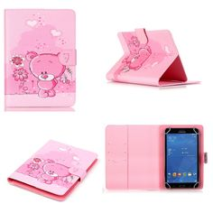 YH  8 inch Universal PU Leather Print Cute Cartoon Stand Protector Cover Case Skin For 8.0'' Teclast sony lenovo asus tablet PC