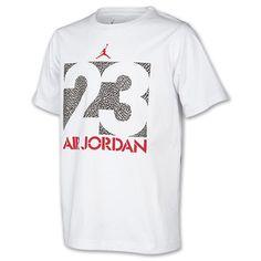 Boys' Jordan 23 Block T-Shirt| FinishLine.com | White/Grey/Red