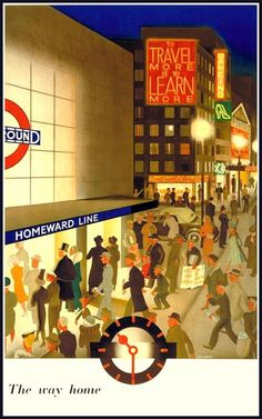 London Underground poster by London Transport Museum (LTM) London Poster, London Art, London Blog, London Underground, Underground Lines, London Transport Museum, Public Transport, Transport Info, Museum Poster