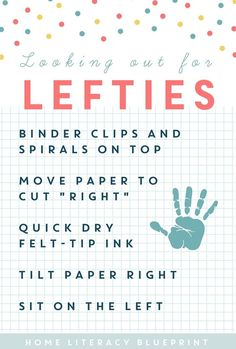 Looking out for Lefties: Handy tips to make life easier for left-handed students.