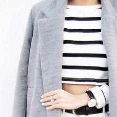 grey + stripes