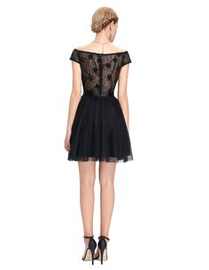 45.12 - Cool Sexy See Through Back Lace Cocktail Dresses Party Dress Cap  Sleeve Ladies Mini 2b6dd535eaf