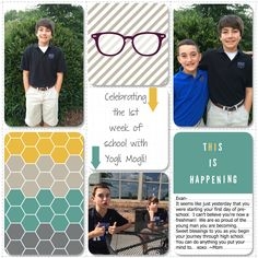 day of high school by papertrail - Cards and Paper Crafts at Splitcoaststampers School Scrapbook, Scrapbook Pages, Pre School, High School, Project Life Layouts, 1st Day, Freshman, Digital Scrapbooking, Stampin Up