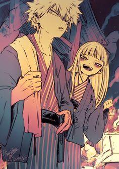 My Hero Academia ◘ Bakugō Katsuki ◘ Toga Himiko Boku No Academia, Buko No Hero Academia, My Hero Academia Manga, Yandere, Hero Academia Characters, Anime Characters, Bakugou Manga, Himiko Toga, Cute Anime Couples