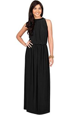 3ed0853698 ... Long Sexy Sleeveless Bridesmaid Halter Neck Wedding Party Guest Summer  Flowy Casual Brides Formal Evening A-line Gown Gowns Maxi Dress Dresses